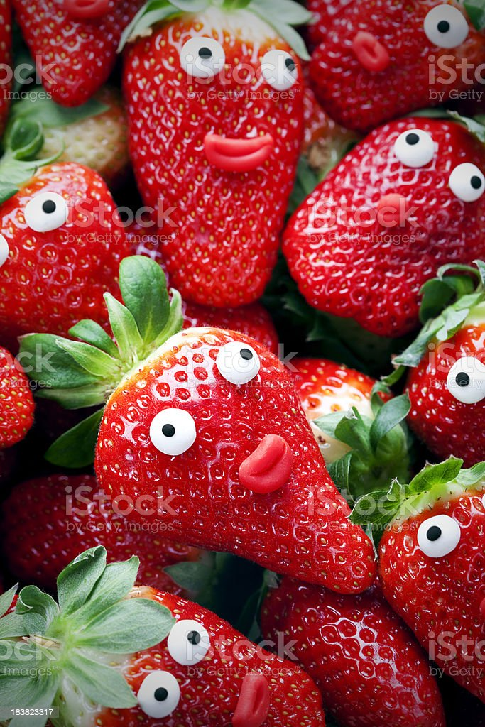 Strawberries with soul royalty-free stock photo