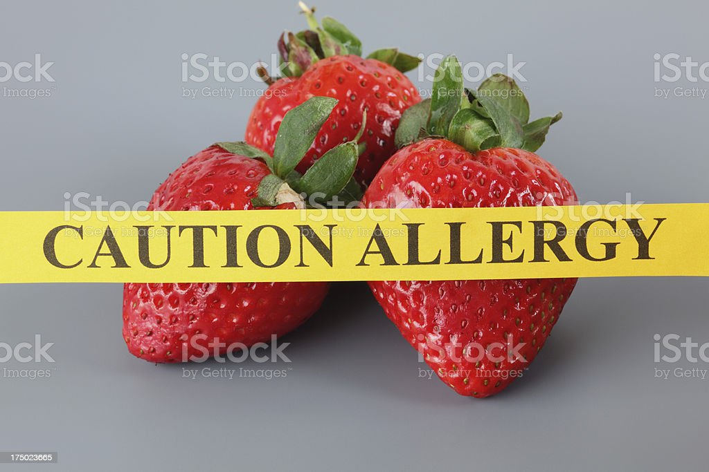Strawberry Allergy royalty-free stock photo