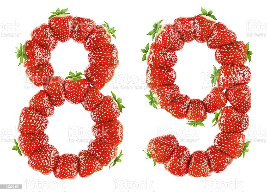 Strawberry alphabet - 8 9 stock photo