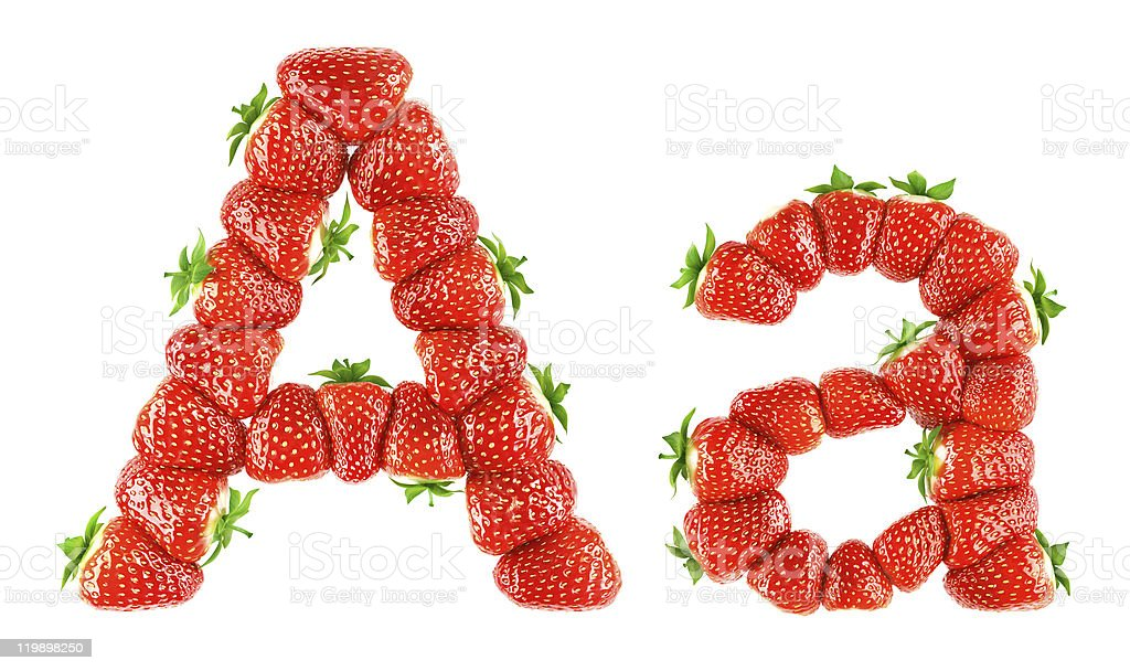Strawberry alphabet - A stock photo