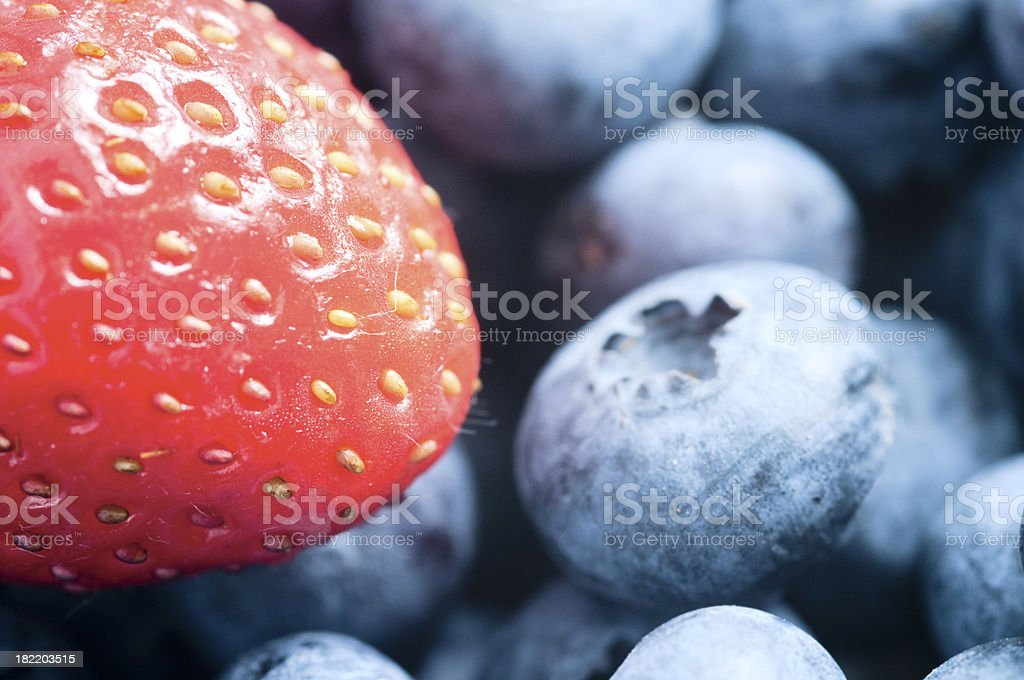 Strawberry and blackberries XXL ( serie ) royalty-free stock photo