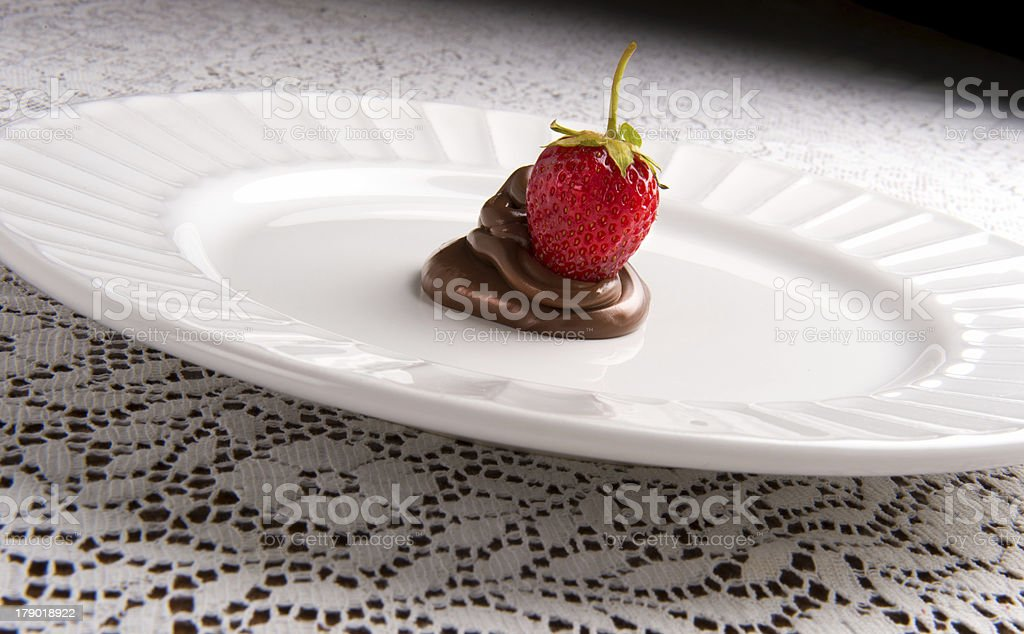 Strawberry and Chocolate royalty-free stock photo