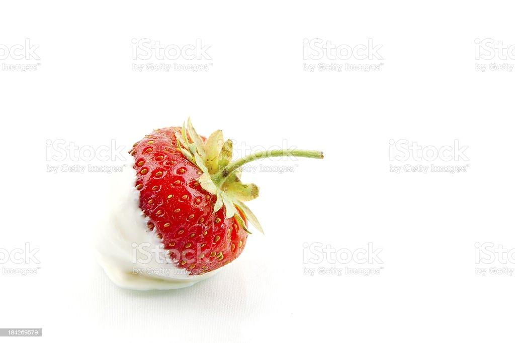 Strawberry and Cream stock photo
