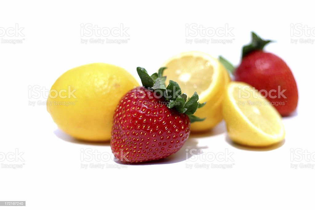 Strawberry and Lemon stock photo