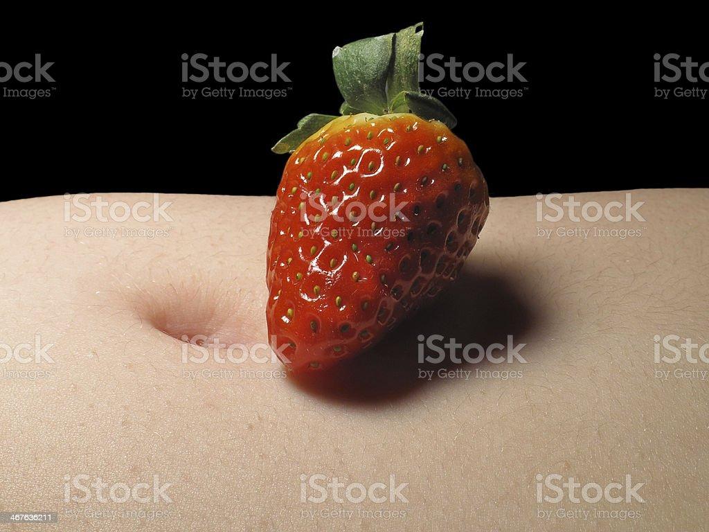 Strawberry and navel stock photo