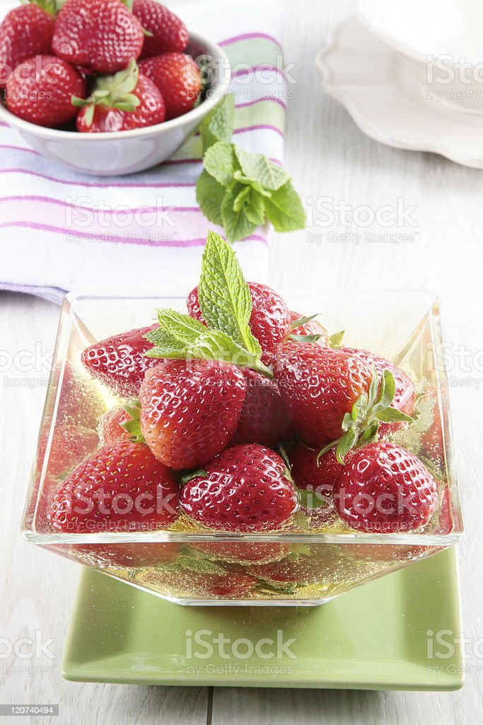 strawberry and vinegar stock photo