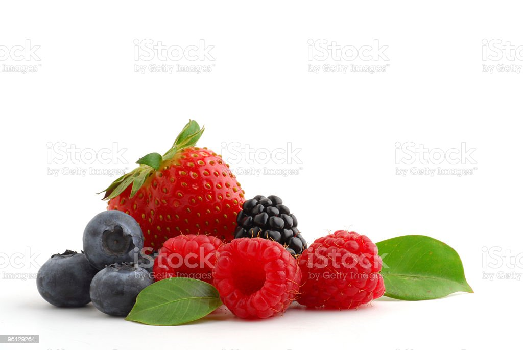 Strawberry blueberries raspberries and blackberries royalty-free stock photo