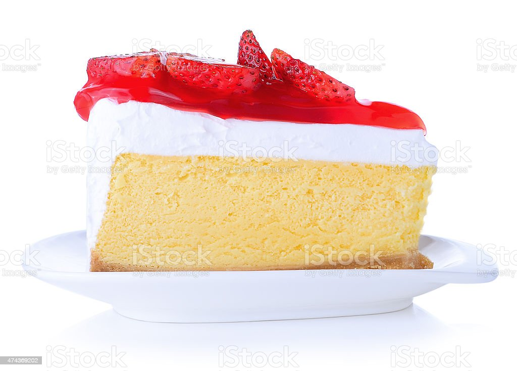 Strawberry Cake isolated stock photo