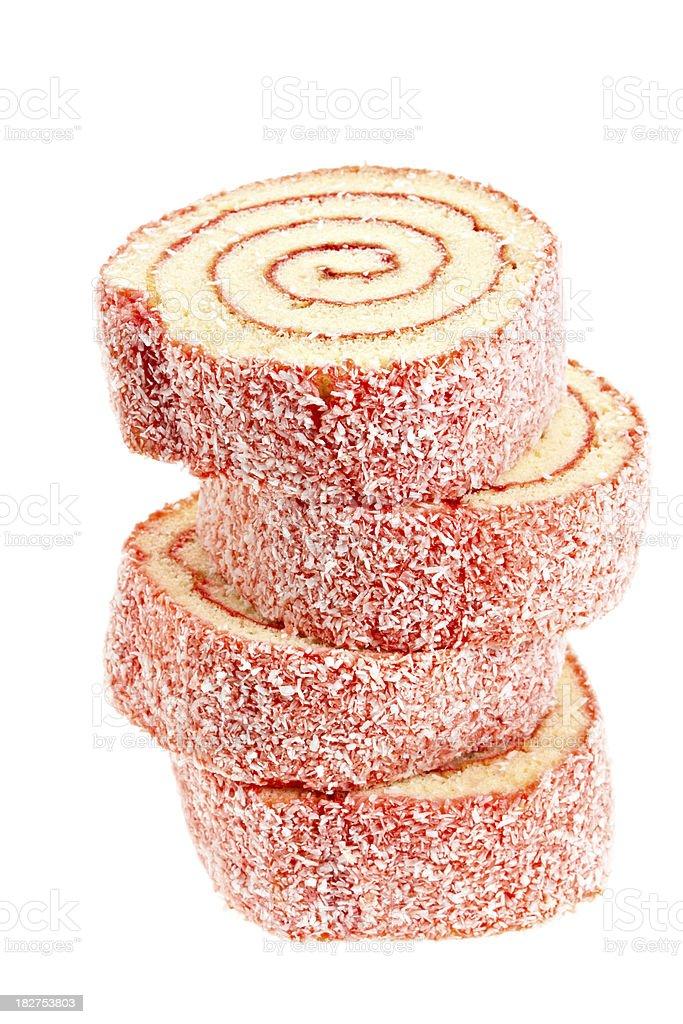 Strawberry Cake Jelly Roll stock photo