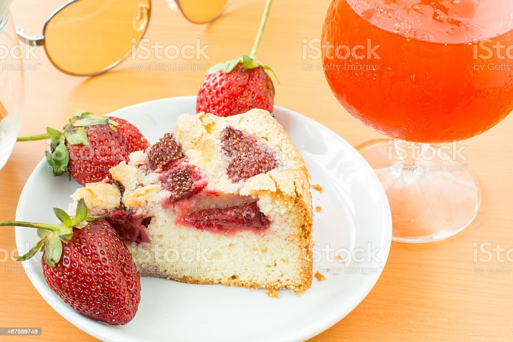 Strawberry cake royalty-free stock photo