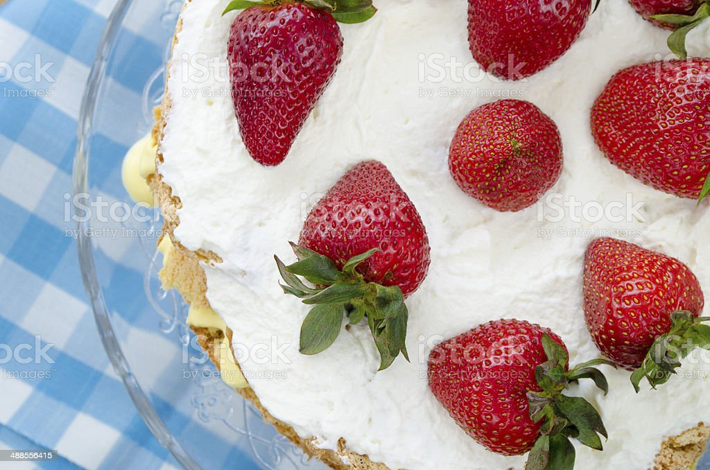 Strawberry cake stock photo