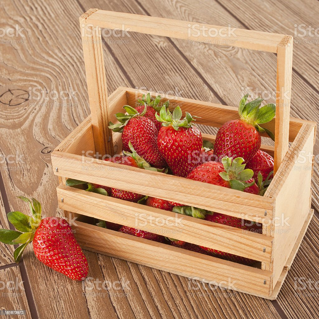 Strawberry Canister stock photo