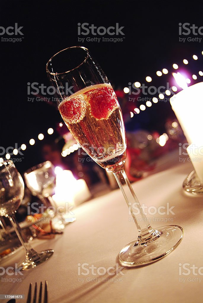 Strawberry Champagne royalty-free stock photo