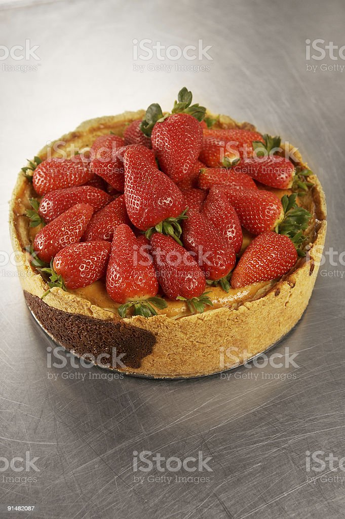 Strawberry  Cheese Cake royalty-free stock photo