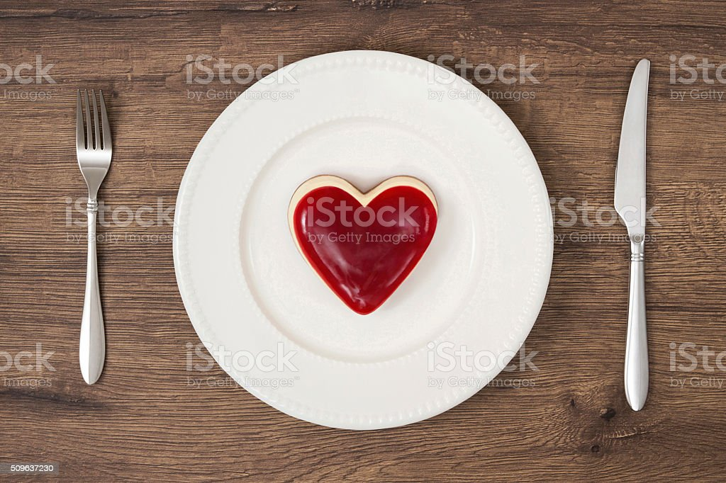 Strawberry Cheesecake on Plate stock photo