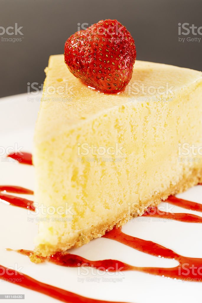 Strawberry Cheesecake royalty-free stock photo