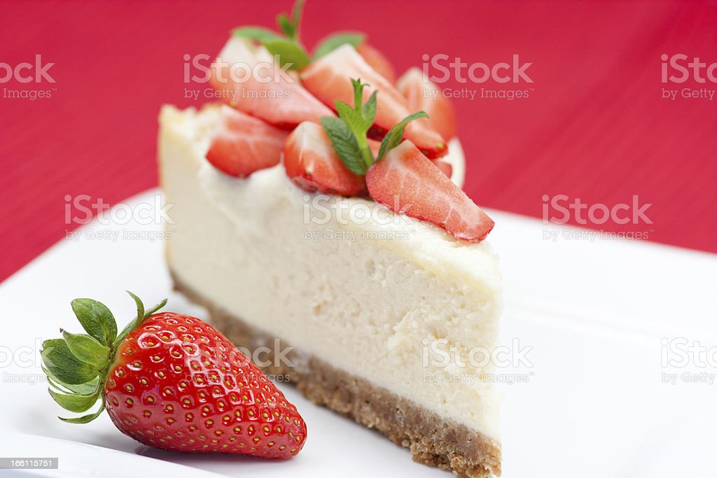 strawberry chesse cake royalty-free stock photo
