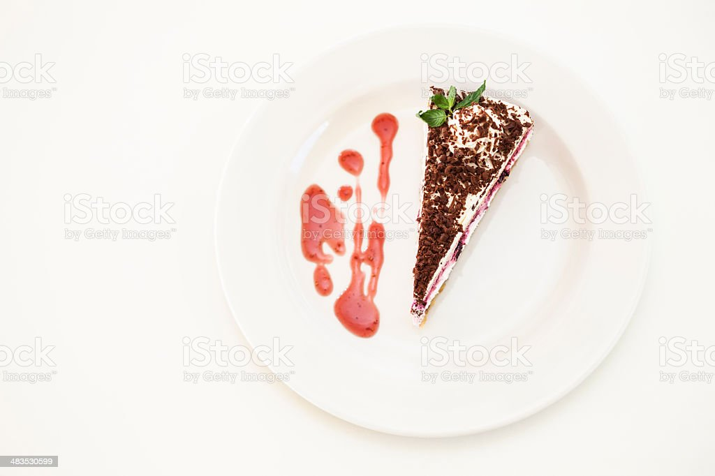 Strawberry chocolate cake royalty-free stock photo