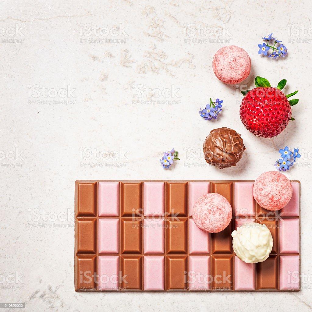 Strawberry chocolate stock photo