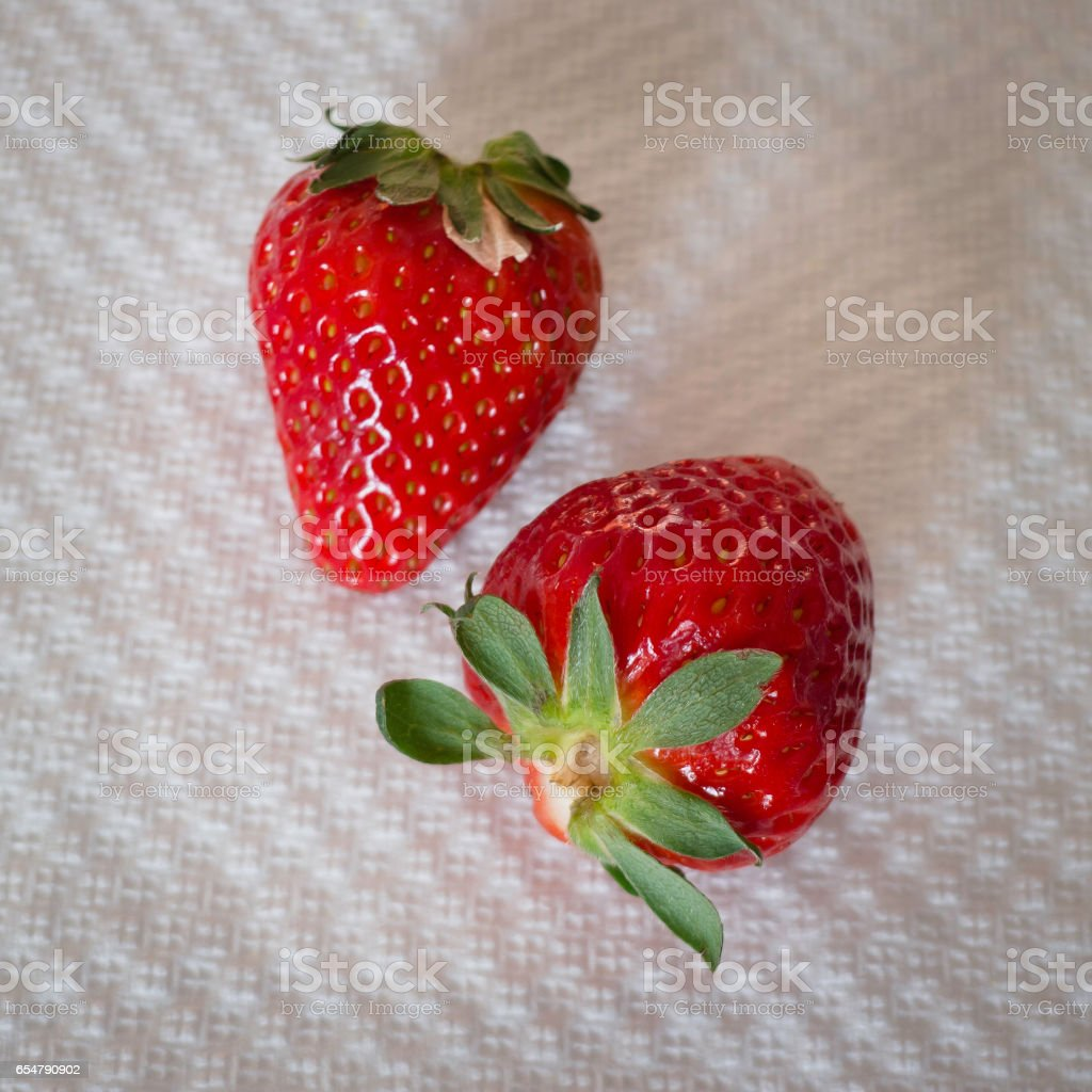 Strawberry closely. stock photo