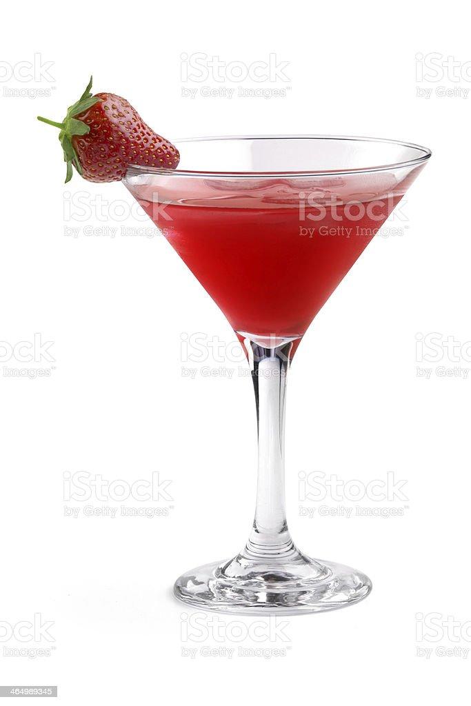 strawberry cocktail stock photo