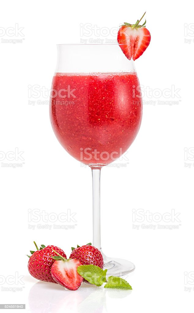 Strawberry cocktail stock photo
