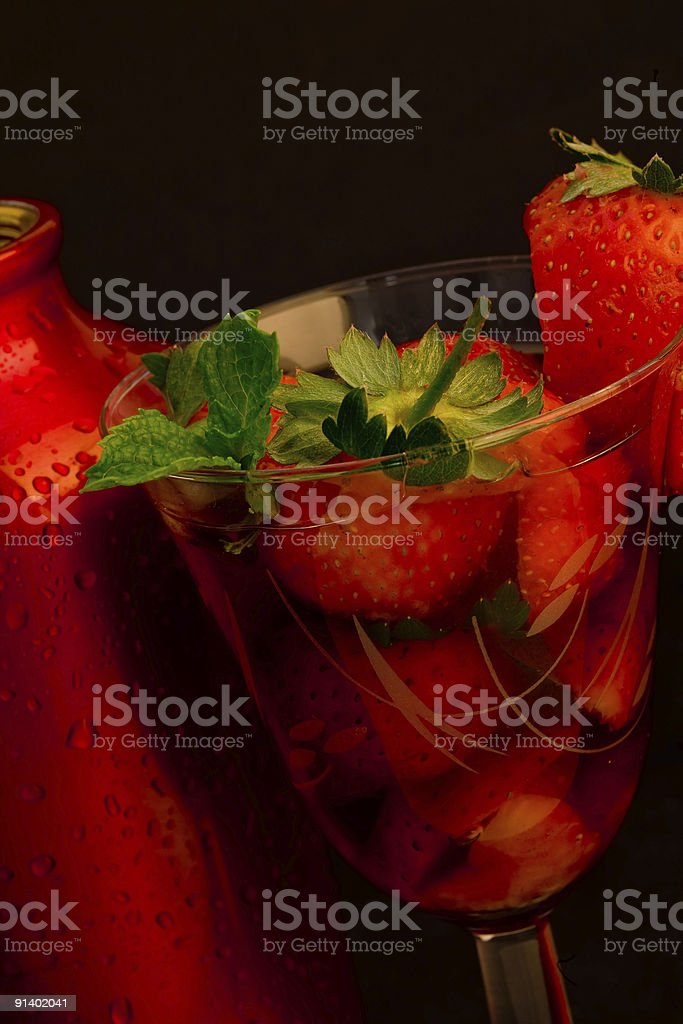 Strawberry cocktail royalty-free stock photo