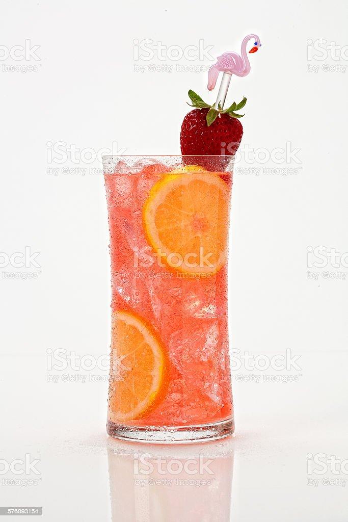 Strawberry Collins stock photo