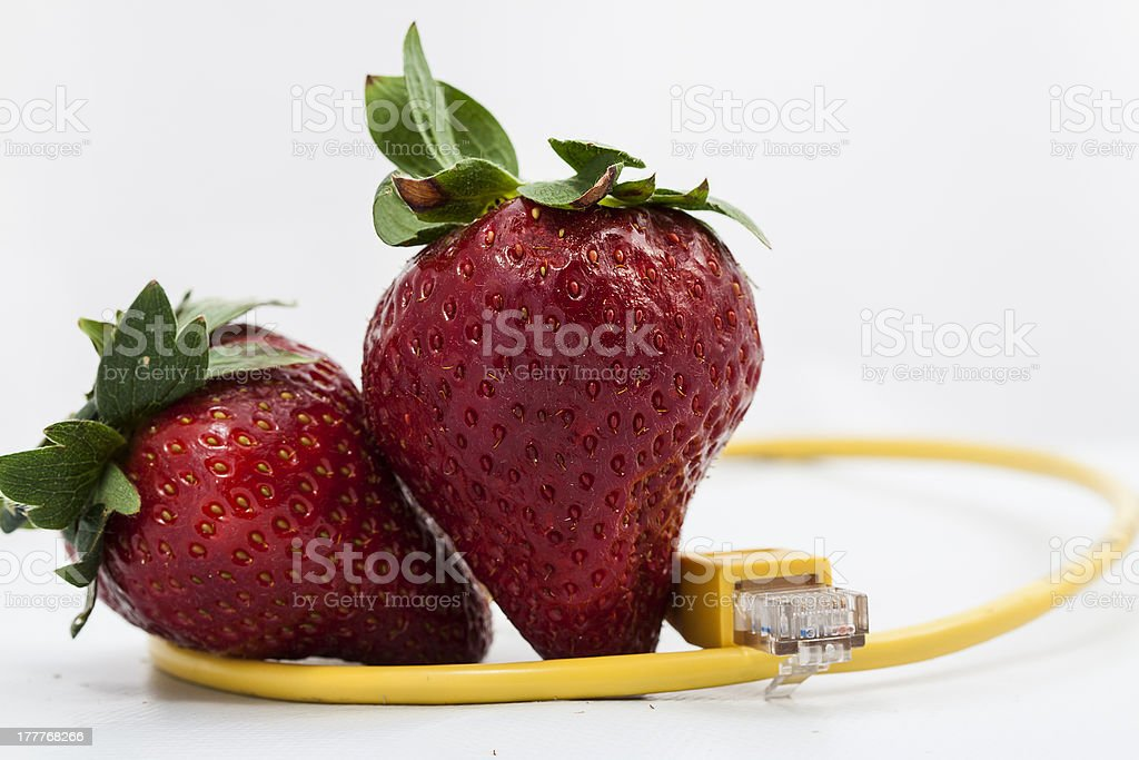 Strawberry connected royalty-free stock photo