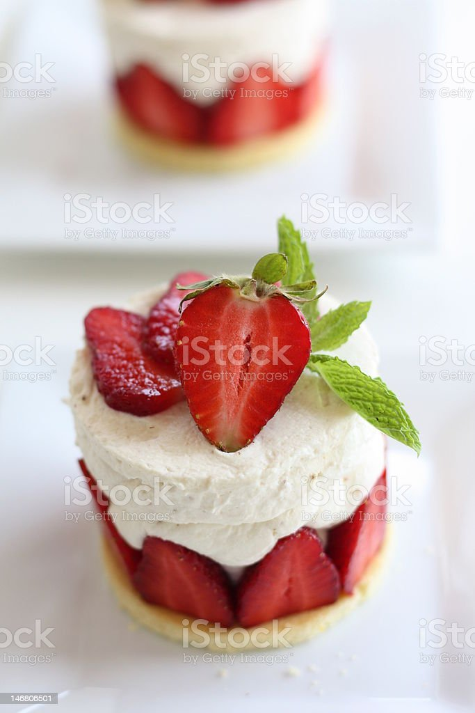Strawberry Cream Cake stock photo