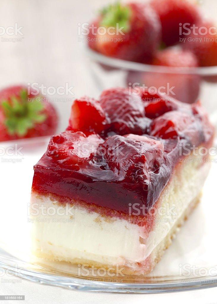 strawberry cream cake royalty-free stock photo