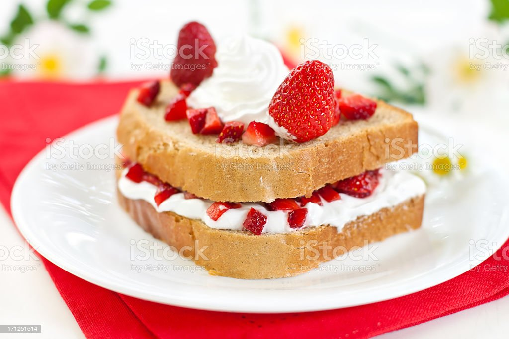 Strawberry & Cream Cheese Sandwich stock photo
