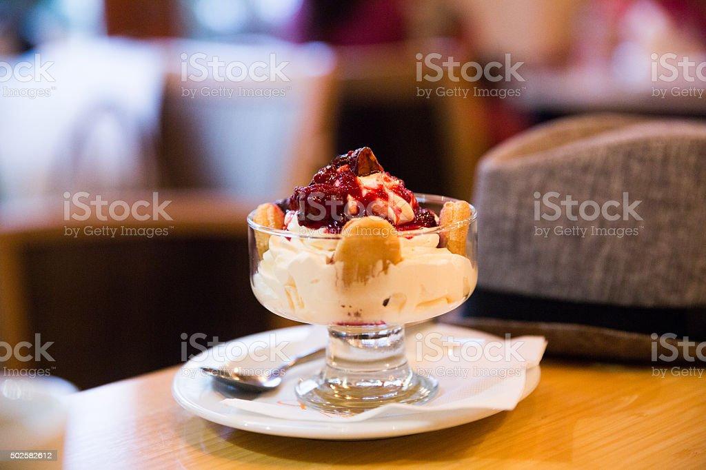 Strawberry Cream Dessert stock photo