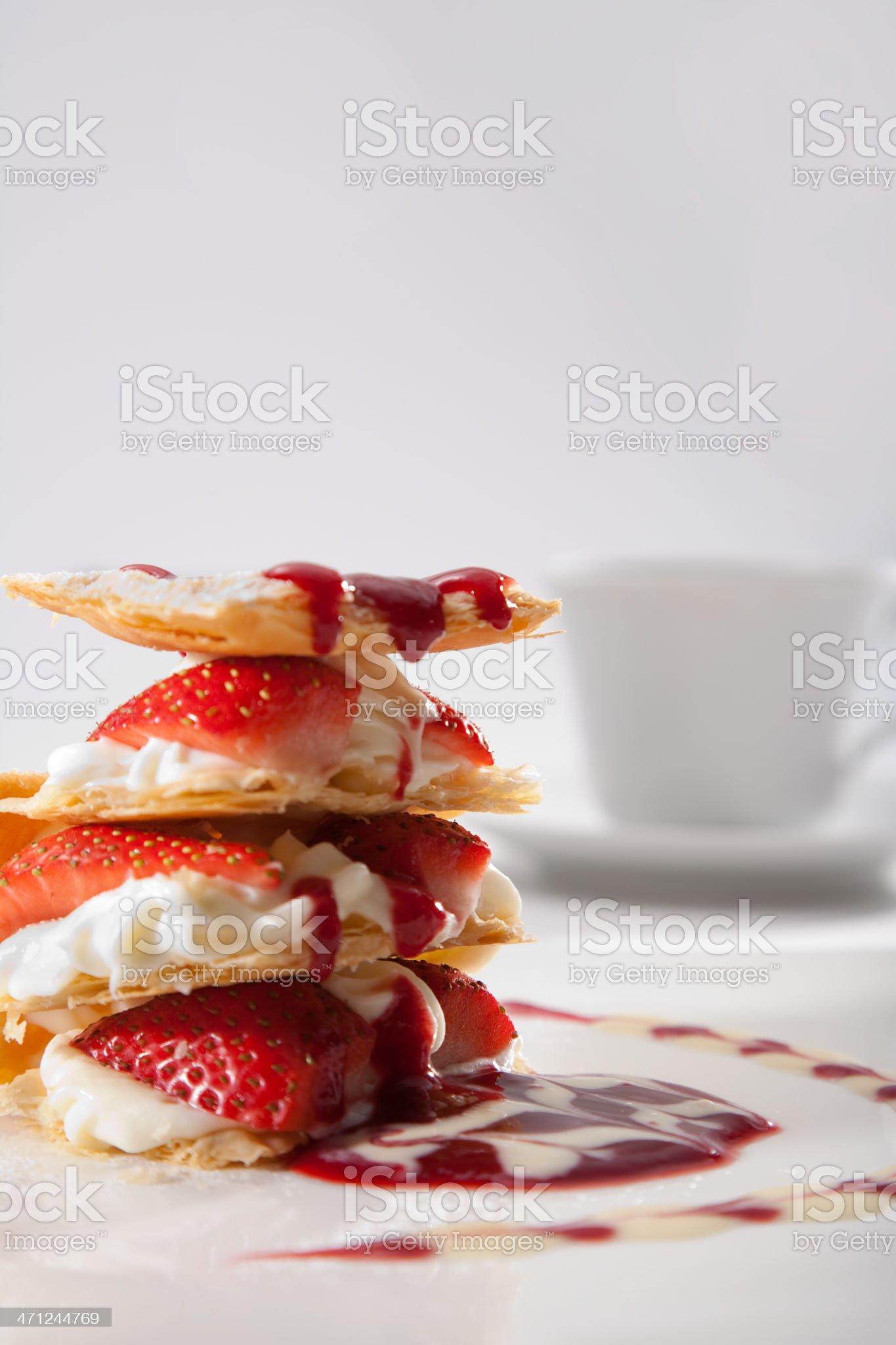 Strawberry Cream Pie royalty-free stock photo