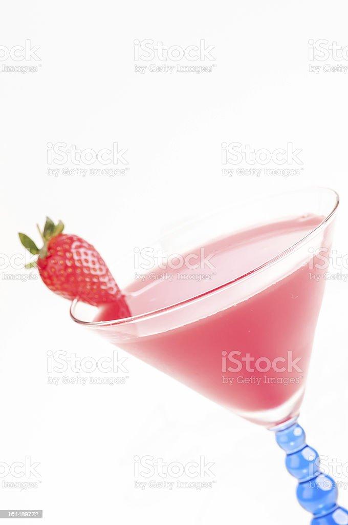 Strawberry Daiquiri Cocktail close up royalty-free stock photo