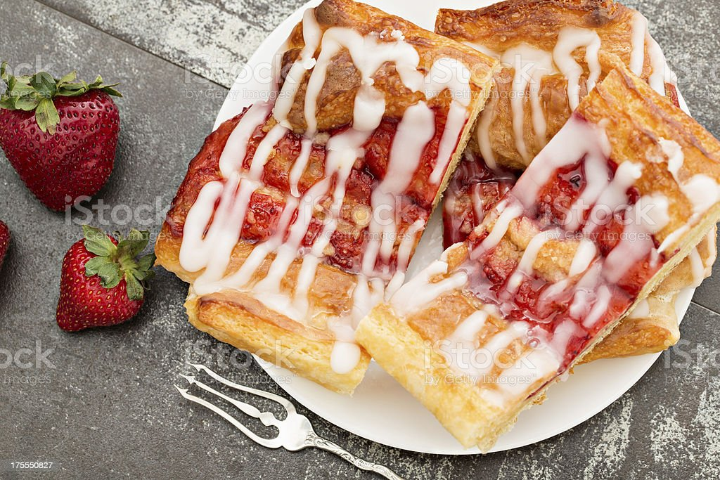 Strawberry Danish royalty-free stock photo