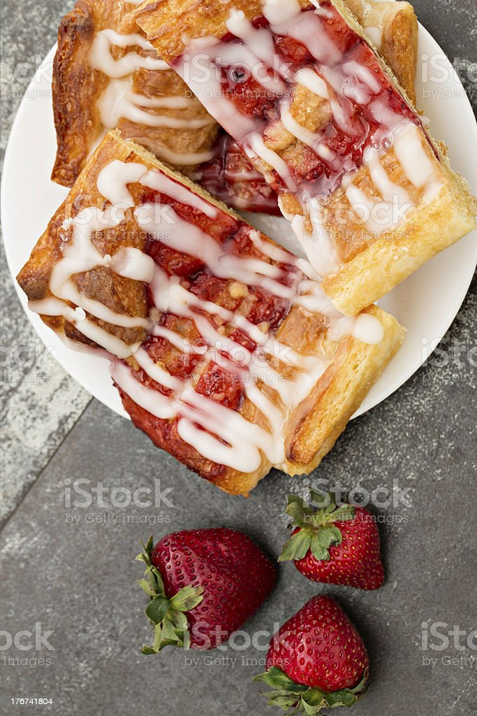 Strawberry Danish royalty-free stock photo