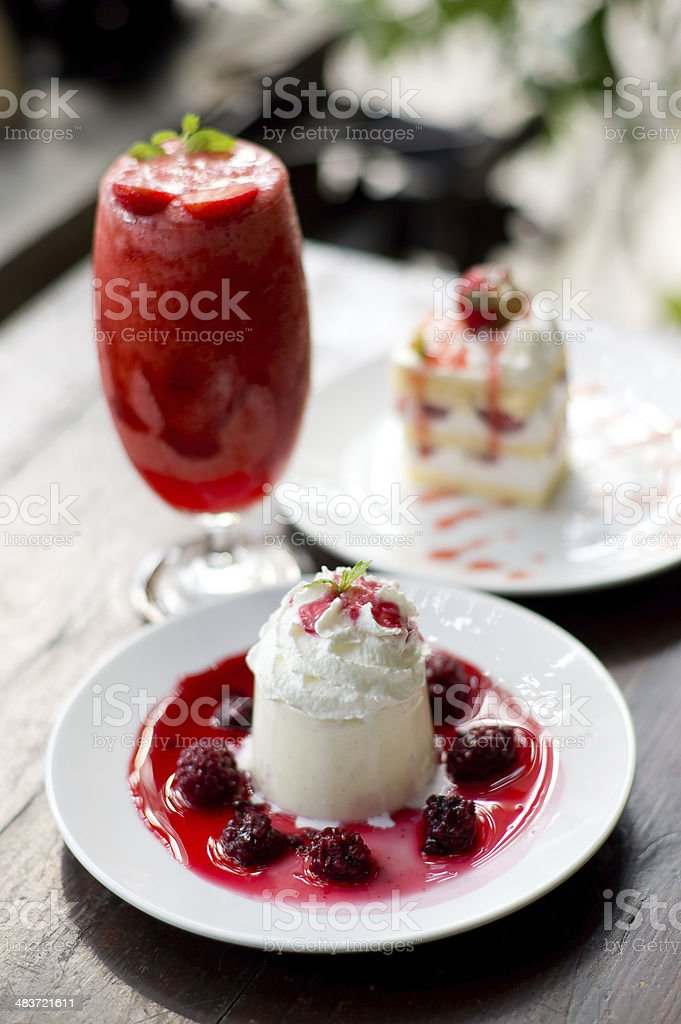 Strawberry Desert royalty-free stock photo