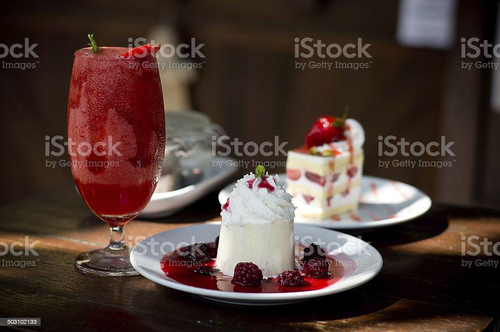 Strawberry Desert stock photo