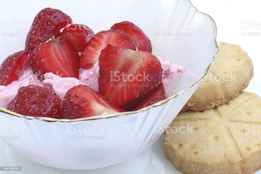 Strawberry dessert royalty-free stock photo