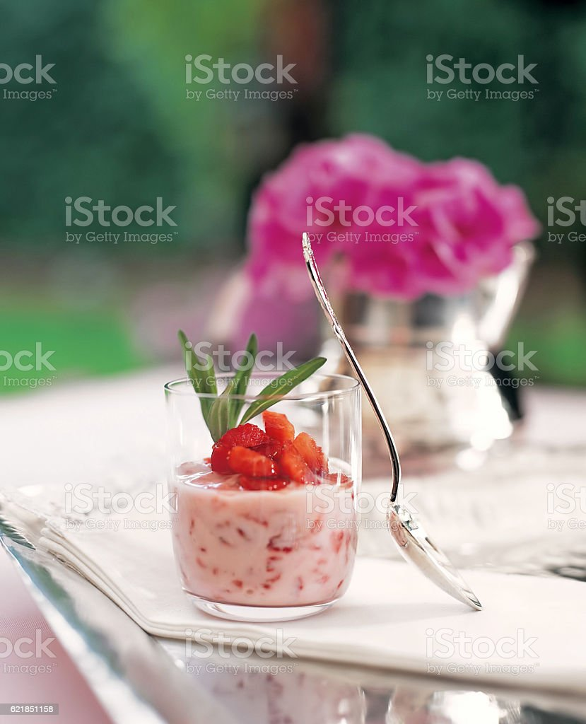 Strawberry dessert stock photo