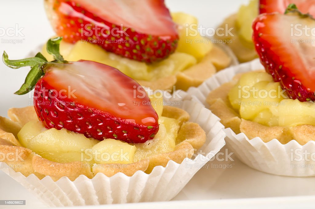 Strawberry dessert with cream fill royalty-free stock photo