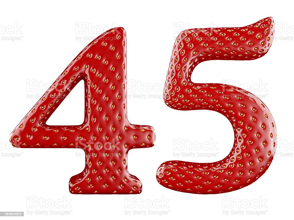 Strawberry digits royalty-free stock photo