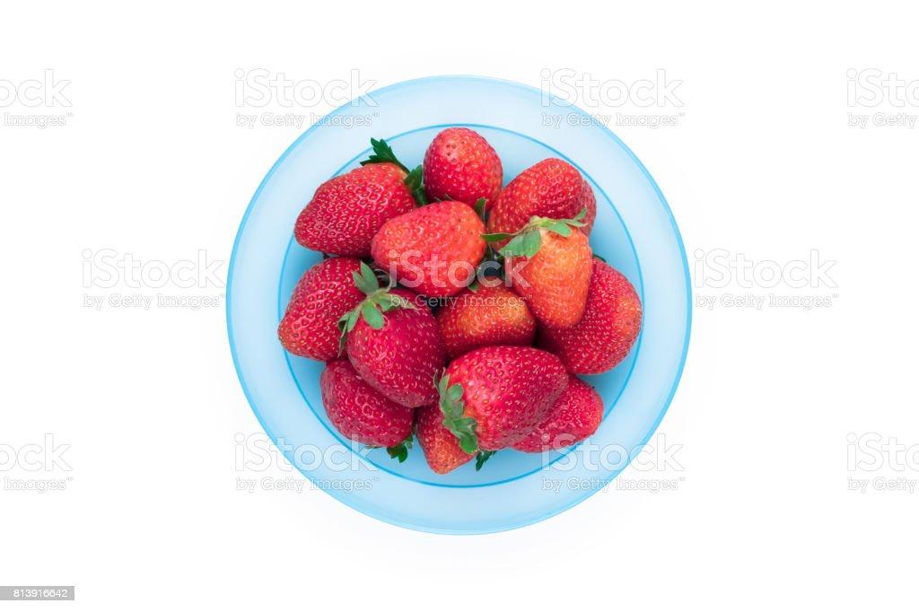 Strawberry dish stock photo