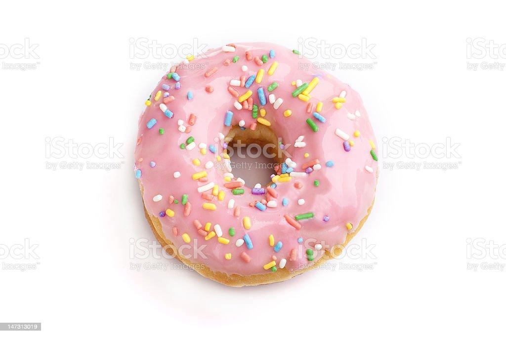Strawberry donut stock photo