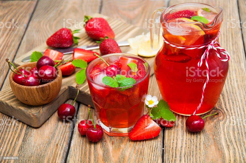 strawberry drink stock photo