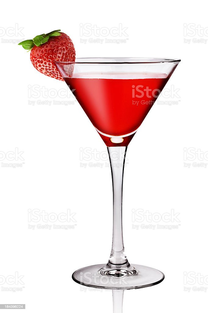 Strawberry Drink Side Full View stock photo