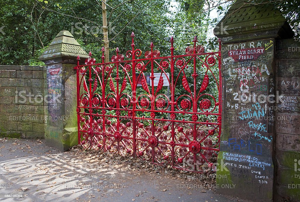 Strawberry Field in Liverpool stock photo