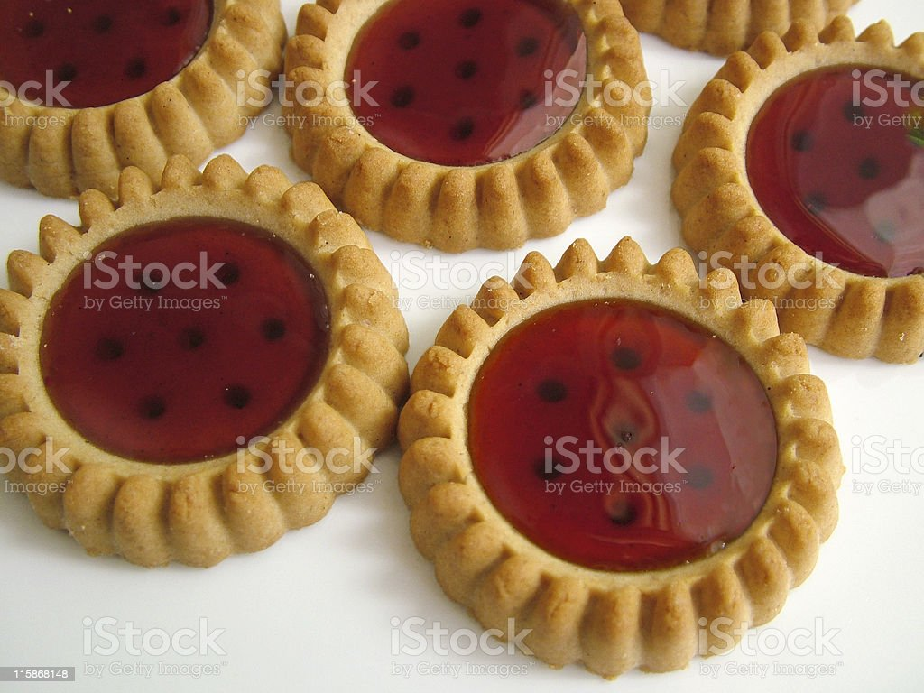 Strawberry filled biscuits royalty-free stock photo