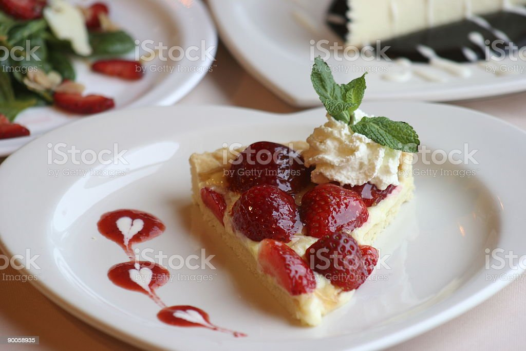 Strawberry Flan royalty-free stock photo
